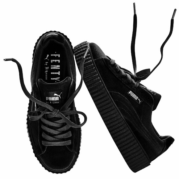 check out 398df a9875 Rihanna fenty puma creepers (black velvet)